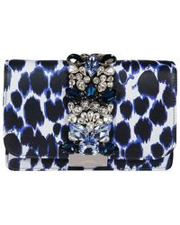 Gedebe Women's Clickyanimalierblue Blue Leather Pouch
