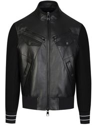 Neil Barrett Leather Mix Jacket - Black