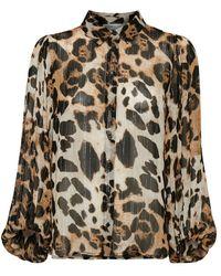Inwear Charley Shirt Leopard - Brown