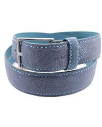 AT.P.CO Men's S40335blue Blue Suede Belt