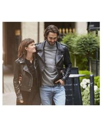 Oakwood Yoko Short Leather Biker Jacket Colour: - Black