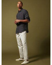 Hartford Paul Linen Shirt In Charcoal - Black