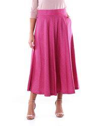 Via Masini 80 Skirts Midi Women Fuchsia Fantasy - Pink