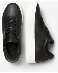 SELECTED Hailey Leather Sneakers - Black