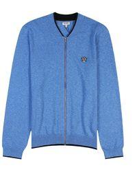 KENZO Small Tiger Logo Cardigan Colour: Light Blue
