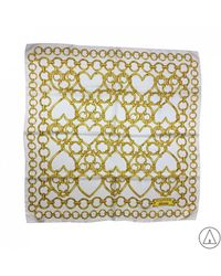 Boutique Moschino - Printed Scarf In White - Lyst