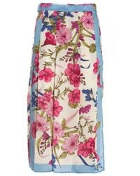 Seventy Flowery Meadow Skirt Multi - Multicolour