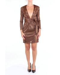 ACTUALEE Dress Short Women Bronze - Metallic