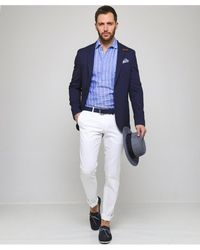 Baldessarini Textured Virgin Wool Blend Seba-1 Jacket - Blue