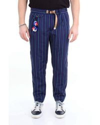 White Sand Other Materials Pants - Blue