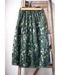Bellerose - Hopla Green Sequin Mesh Skirt - Lyst