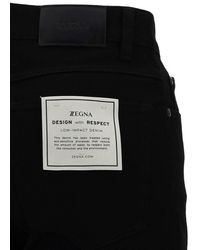 Z Zegna Men's Vw749zz530k09 Black Other Materials Jeans