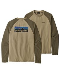 Patagonia Jersey P-6 Logo Crew Sweatshirt - El Cap Khaki - Green