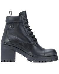 Miu Miu Women's 5t192df0803a6ff0002 Black Leather Ankle Boots