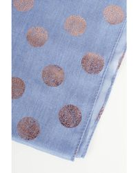 Atterley - Blue And Gold Spot Scarf - Lyst