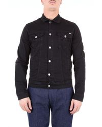 Aglini Jackets Denim Jackets Men Black