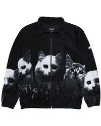 RIPNDIP Rip N Dip Field Of Cats Sherpa Jacket - Black