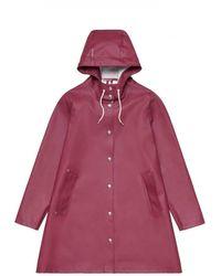 Stutterheim Mosebacke Burgundy Raincoat By - Red