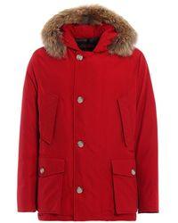 Woolrich Men's Jackets & Coats Wocps2739 Red