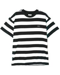 Obey Ideals Organic Wide Stripe T-shirt - Black/multi