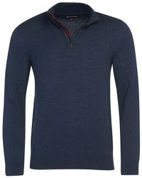 Barbour Avoch 1/4 Zip Sweater - Blue
