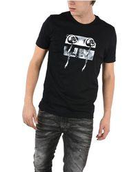 Diesel Black Gold Men's 00s24mbgrcj900 Black Cotton T-shirt