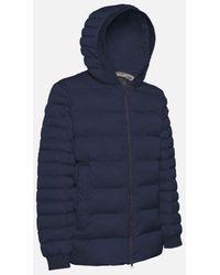 Geox Colbyn Padded Coat In Gothic M1428nt2600f4491 - Blue