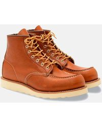 "Red Wing Heritage Work 6"" Moc Toe Boot - Tan - Brown"