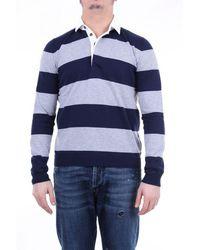 Heritage Polo Shirt Long Sleeves - Blue