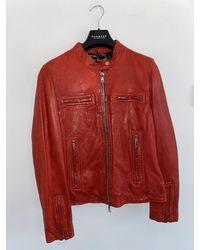 Oakwood Nara Leather Jacket In 63937 - Red