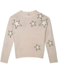 Rails Virgo Sweater - Grey White Stars