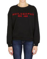 Philosophy - Sweatshirt In Black - Lyst