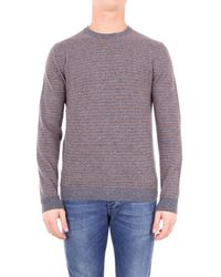 Altea - Sweater Men Gray And Camel - Lyst