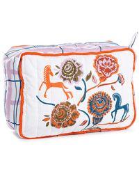 Anna + Nina Flower Parade Wash Bag - Multicolour