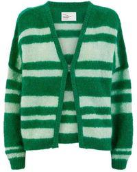 Leon & Harper Nigna Stripe Cardigan - Green