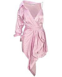Alexander Wang Draped Asymmetric Mini Dress - Pink