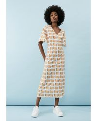 """PHOEBE GRACE Melanie """"you Can Wear Me Anywhere"""" Dress In Check! - Pink"""