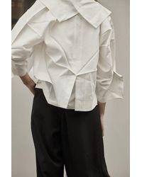 132 5. Issey Miyake Origami Jacket - /silver - White