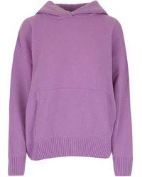 MSGM 3141mdm11921779070 Other Materials Sweatshirt - Purple