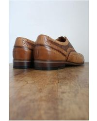 Lacuzzo Tan Leather & Ostrich Leather Contrast Brogues Size: 7 Men's - Brown