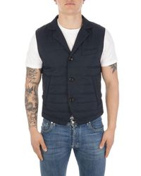 Eleventy Men's C70gilc10tes0c19211 Blue Polyester Vest