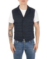 Eleventy Polyester Vest - Blue