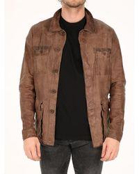 Salvatore Santoro Leather Jacket Brown