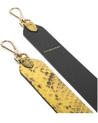 Coccinelle Women's Bz6 680403 Snake Print Yellow Or Pink Shoulder Strap