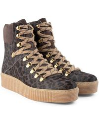 Shoe The Bear Agda Boot In Grey Leopard