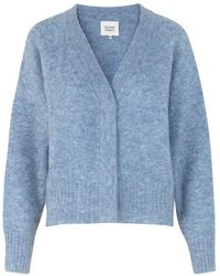 Second Female Brook Knit Boxy Cardigan - Blue
