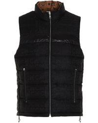 MCM Men's Mhvbsmm01cb Multicolor Other Materials Vest - Black