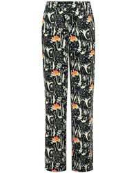 POM Amsterdam Trousers - Roses Midnight , Title: - Blue