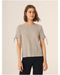 Nice Things - Tie Sleeve Stripe T-shirt - Lyst