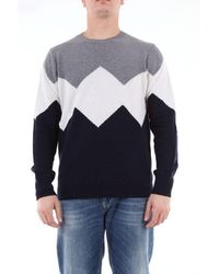 Jeordie's Multicolor Crew Neck Sweater - Gray